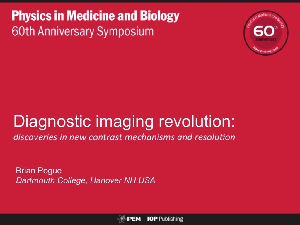 Diagnostic Imaging Evolution: discoveries in contrast mechanisms and resolution