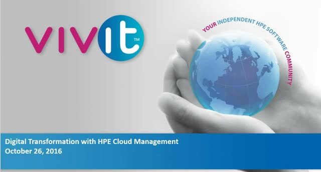 Digital Transformation with HPE Cloud Management