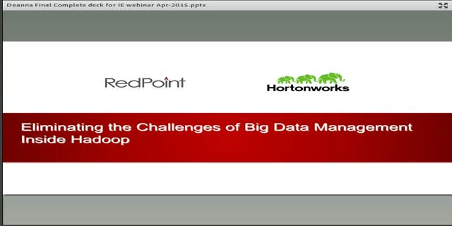 Eliminating the Challenges of Big Data Management Inside Hadoop