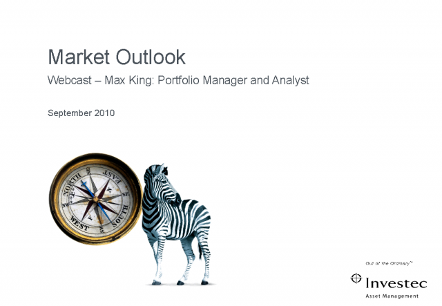 Investec AM - Market Outlook with Max King