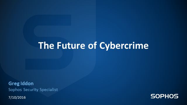 The Future of Cybercrime