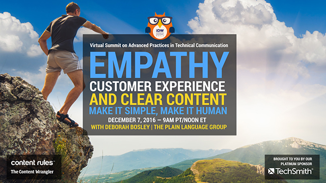 Empathy, Customer Experience, and Clear Content: Make It Simple and Human