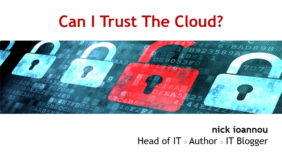 Can I Trust Data Security in the Cloud?
