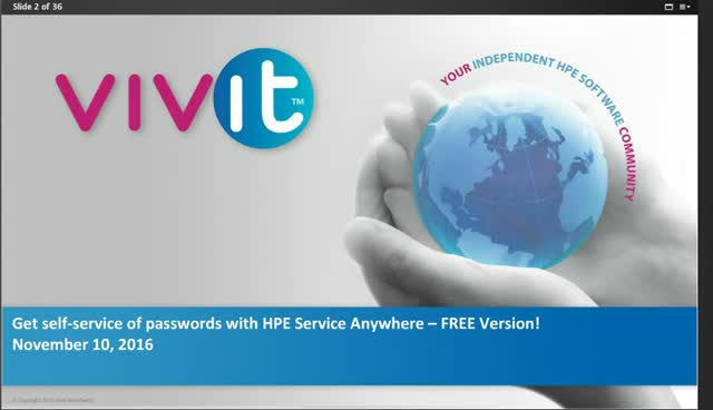 Get self-service of passwords with HPE Service Anywhere – FREE Version!