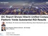 IDC Report Shows Hitachi Unified Compute Platform Yields Substantial ROI Results
