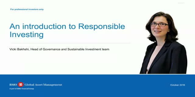 An introduction to responsible investing