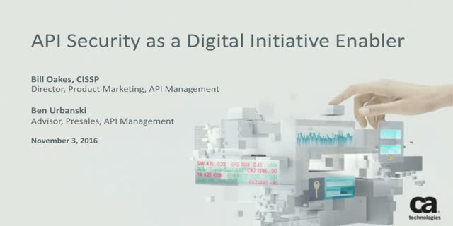 API Security as a Digital Initiative Enabler