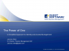 The Power of One: A Simplified Approach to Identity Management