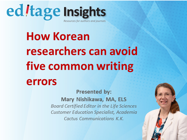 5 common mistakes Korean authors make in research papers and how to avoid them