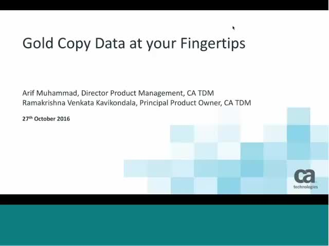 Gold copy data at your fingertips