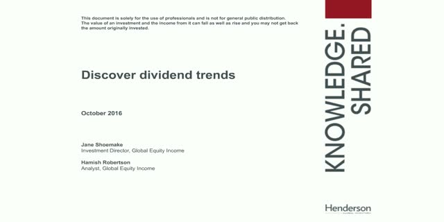 Discover global dividend trends and opportunities (CPD Accredited)