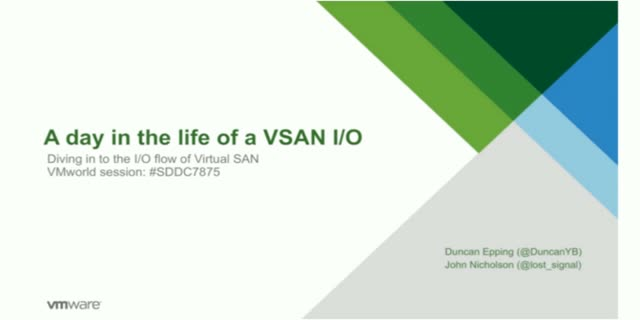 Take 20 Series- Episode 1: A Day in the Life of a Virtual SAN I/O