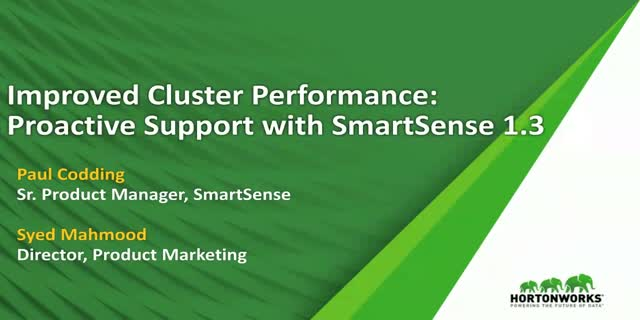 Improved Cluster Performance: Proactive Support with SmartSense 1.3