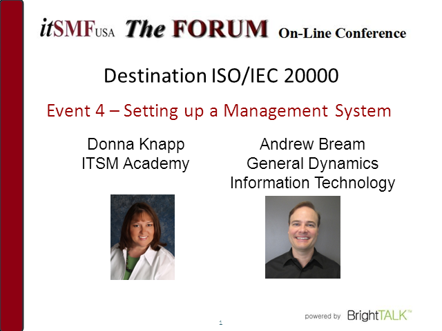 Destination ISO/IEC 20000: Setting Up a Management System