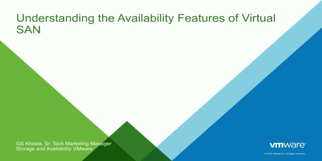Take 20 Series- Ep 3: Understanding the Availability Features of Virtual SAN