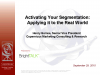 Activating Your Market Segmentation