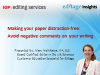 Making your paper distraction-free: Avoid negative comments on your writing