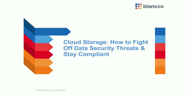 Cloud Storage: How to fight off Data Security Threats & Stay Compliant