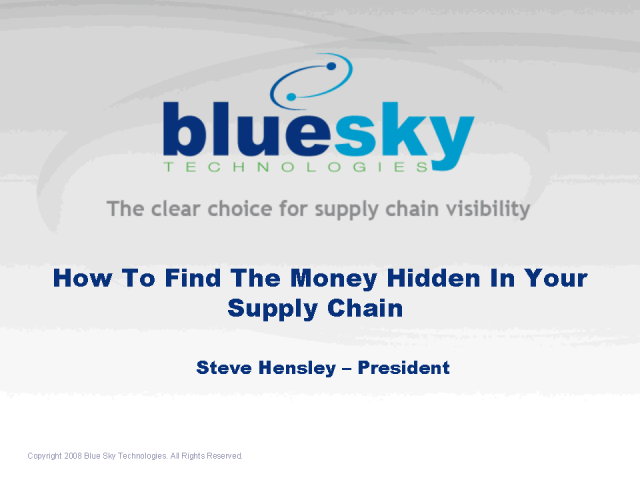 How To Find The Money Hidden In Your Supply Chain