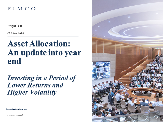 Asset Allocation Outlook – An update into year end