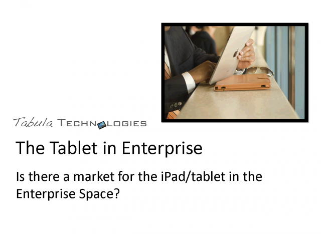 Does the iPad fit in the business environment?