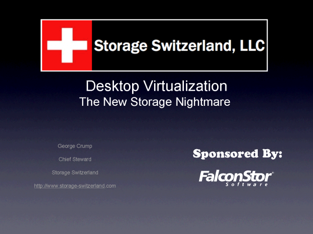 Making Sure Desktop Virtualization Won't Break Storage