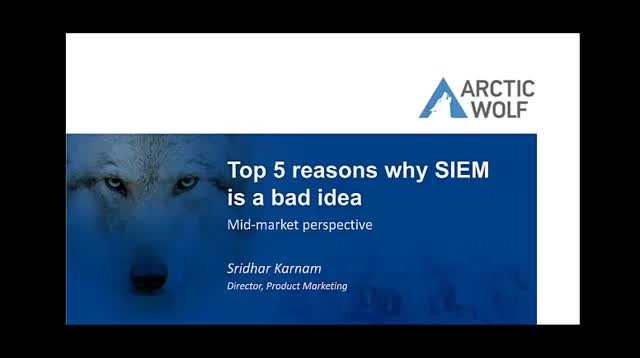 Top 5 Reasons Why SIEM Is A Bad Idea