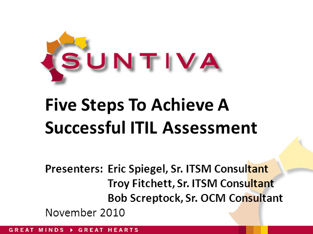 Five Steps To Achieve a Successful ITIL Assessment