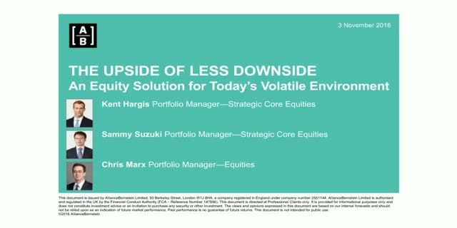 The Upside of Less Downside: An equity solution for today's volatile environment