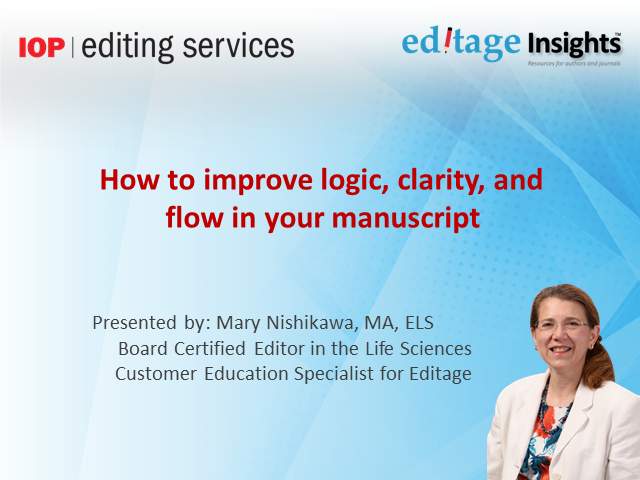 Make your manuscript impactful: How to improve logic, clarity, and flow