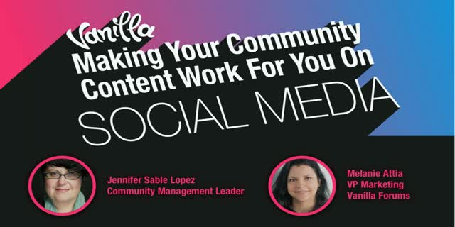 Make your Community Content Work for You on Social