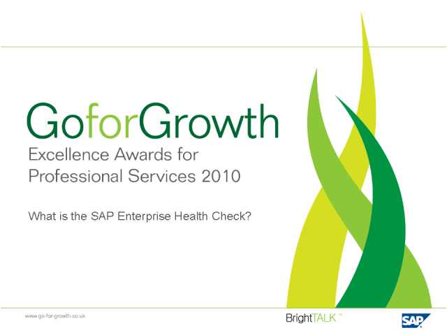 PRIZE: SAP Enterprise Health Check Benchmark Explained