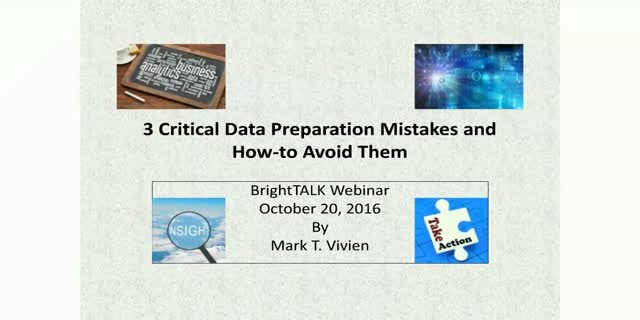3 Critical Data Preparation Mistakes and How-to Avoid them