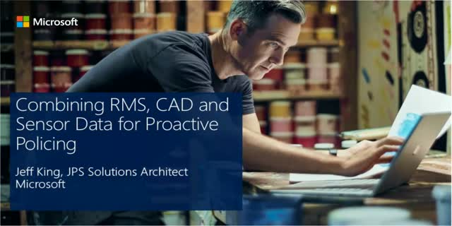 Combining RMS, CAD and Sensor Data for Proactive Policing