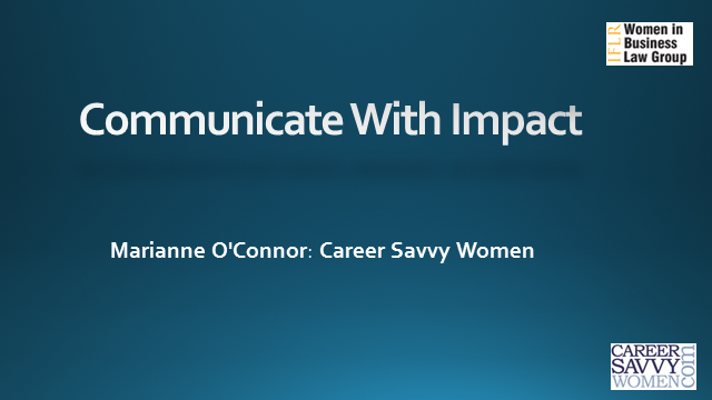 IFLR Women in Business Law Group: Communicate with Impact