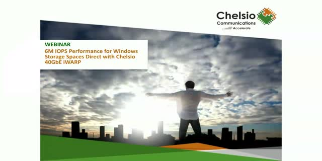 6M IOPS Performance for Windows Storage Spaces Direct with Chelsio 40GbE iWARP