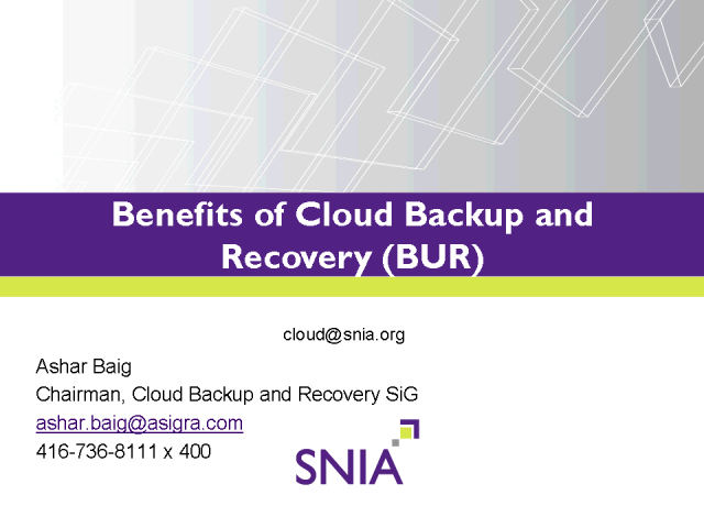 Benefits of Cloud Backup and Recovery in Today's Data Center