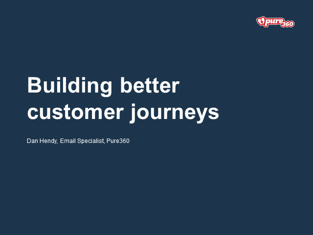 Building better customer journeys