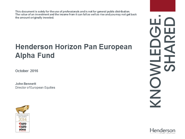 Live Insight: Henderson Horizon Pan European Alpha