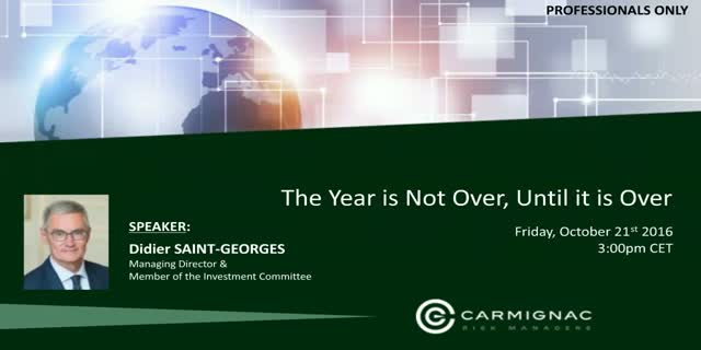 Carmignac's Investment Views: the year is not over until it's over