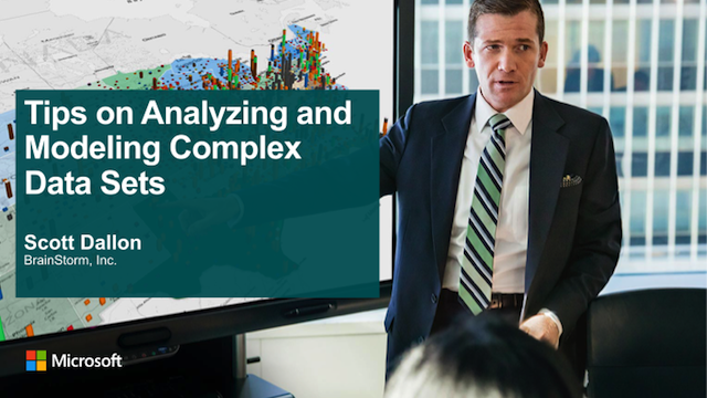 Tips on Anyalyzing and Modeling Complex Data Sets