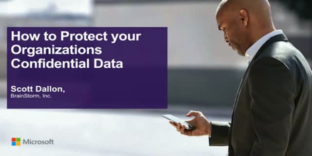 How to Protect your Organizations Confidential Data