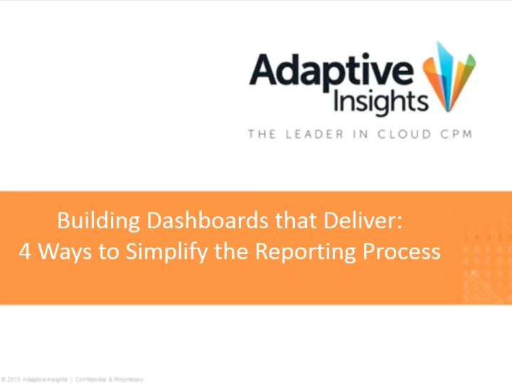 Building Dashboards that Deliver: 4 Ways to Simplify the Reporting Process