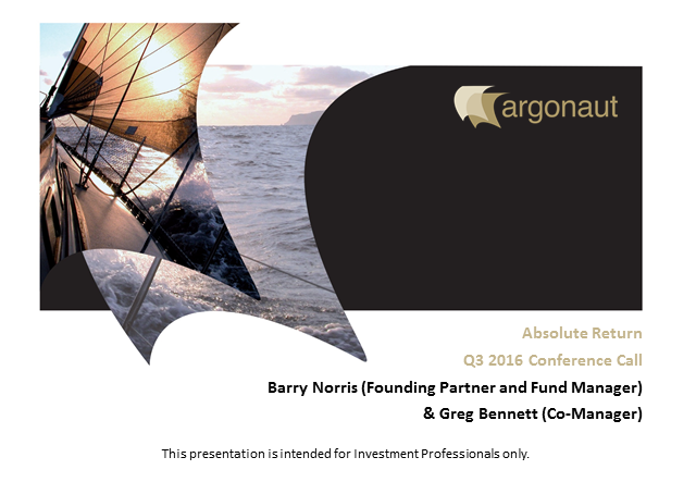 FP Argonaut Absolute Return Fund Q3 Update
