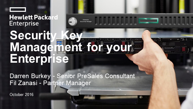 HPE ESKM – Briefing for HPE UK&I partners