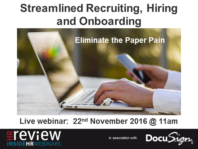 Streamlined Recruiting, Hiring and Onboarding: Eliminate the paper pain.