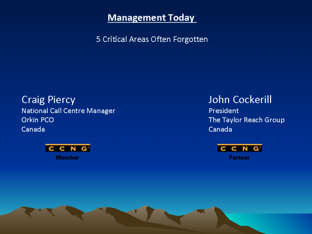 Call Center Management Today - 5 Critical Areas Often Forgotten