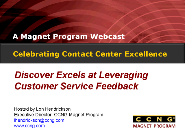 Celebrating Contact Center Excellence at Discover