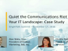 Quiet the Communications Riot in your IT Landscape: Case Study
