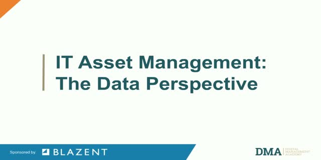 IT Asset Management: The data perspective